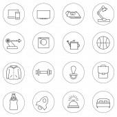 Fotografie Vektor-Service-Symbole im Kreis auf weißem Hintergrund