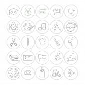 Fotografie Vektor-Symbole professioneller Branchen im Kreis auf weißem Hintergrund