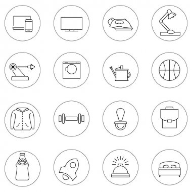 Vector service icons in circles on white background stock vector