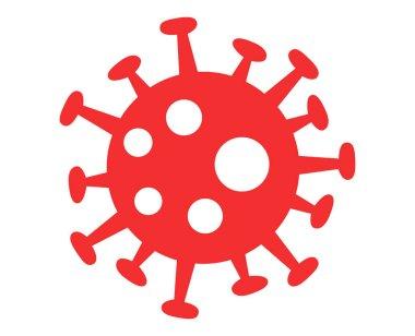 Beyaz arkaplanda kırmızı virüs bakterisi