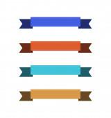 sada prázdných barevných stuh s kopírovacím prostorem na bílém pozadí