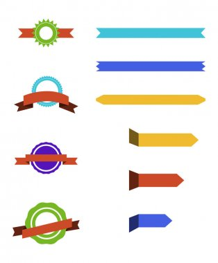 Blank colorful ribbons with copy space on white background clip art vector