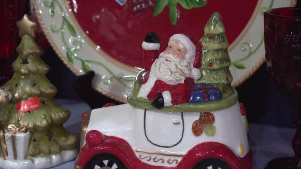 Třpytivé keramická soška Santa