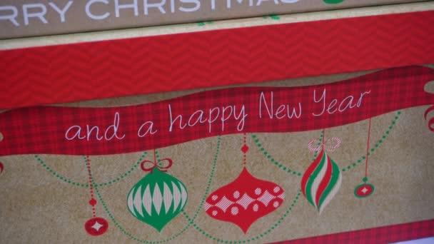Label a šťastný nový rok