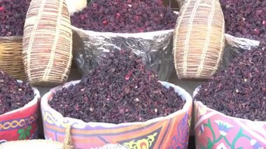 Hibiscus Tea in Baskets on the Market