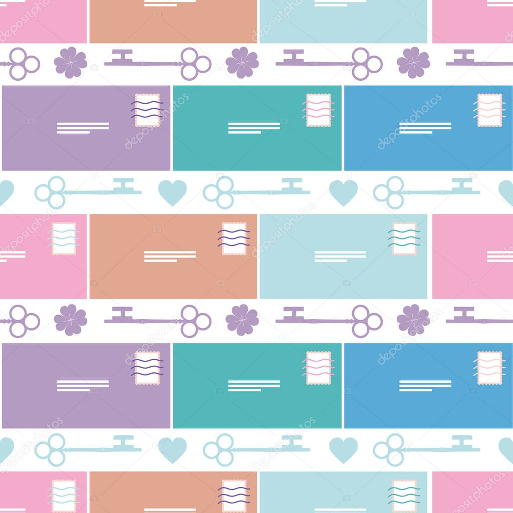 Colorful Happiness Symbols Seamless Background Pattern When Messages Bring Positivity Luck And Fortune To The Receiver Works Well As A Background For Creative Projects Premium Vector In Adobe Illustrator Ai