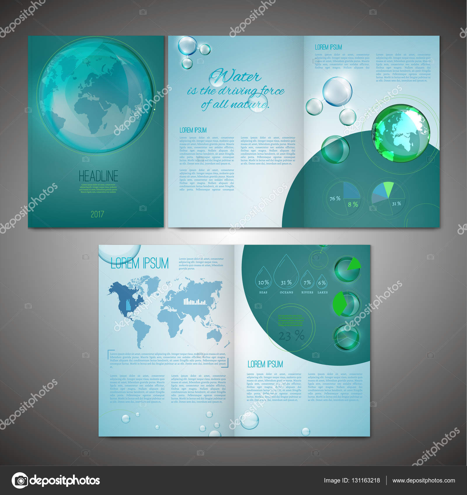 vector ecological brochure template with infographic element modern background for poster print flyer book booklet brochure and leaflet