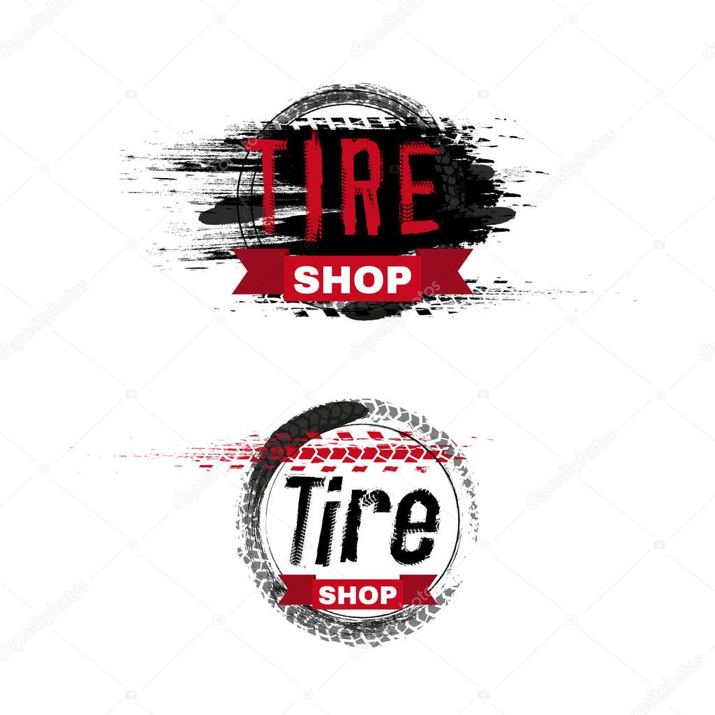 Grunge Off Road Post And Quality Stamp Automotive Collection Useful For Banner Sign Logo Icon Label And Badge Design Tire Tracks Vector Illustration Premium Vector In Adobe Illustrator Ai Ai