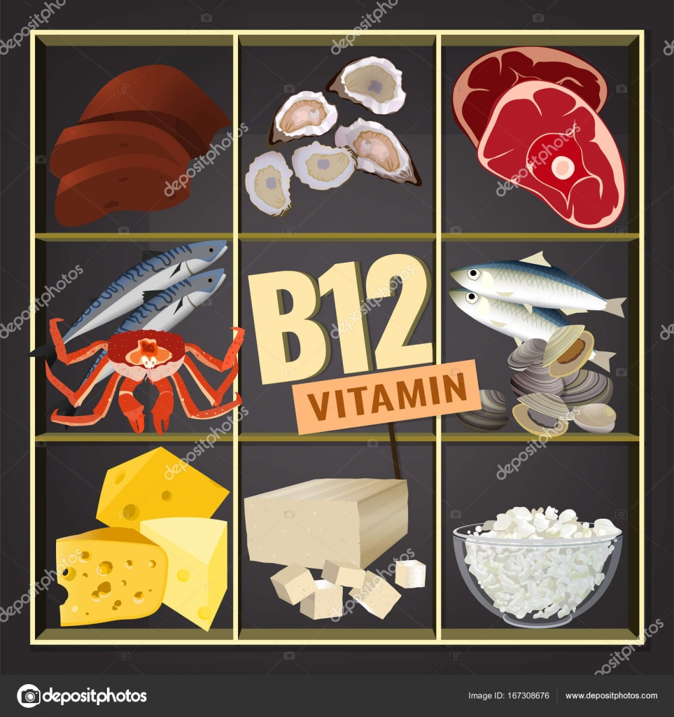 Vitamin B12 Image — Stock Vector © annyart #167308676