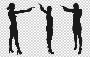 Shooting girl silhouette