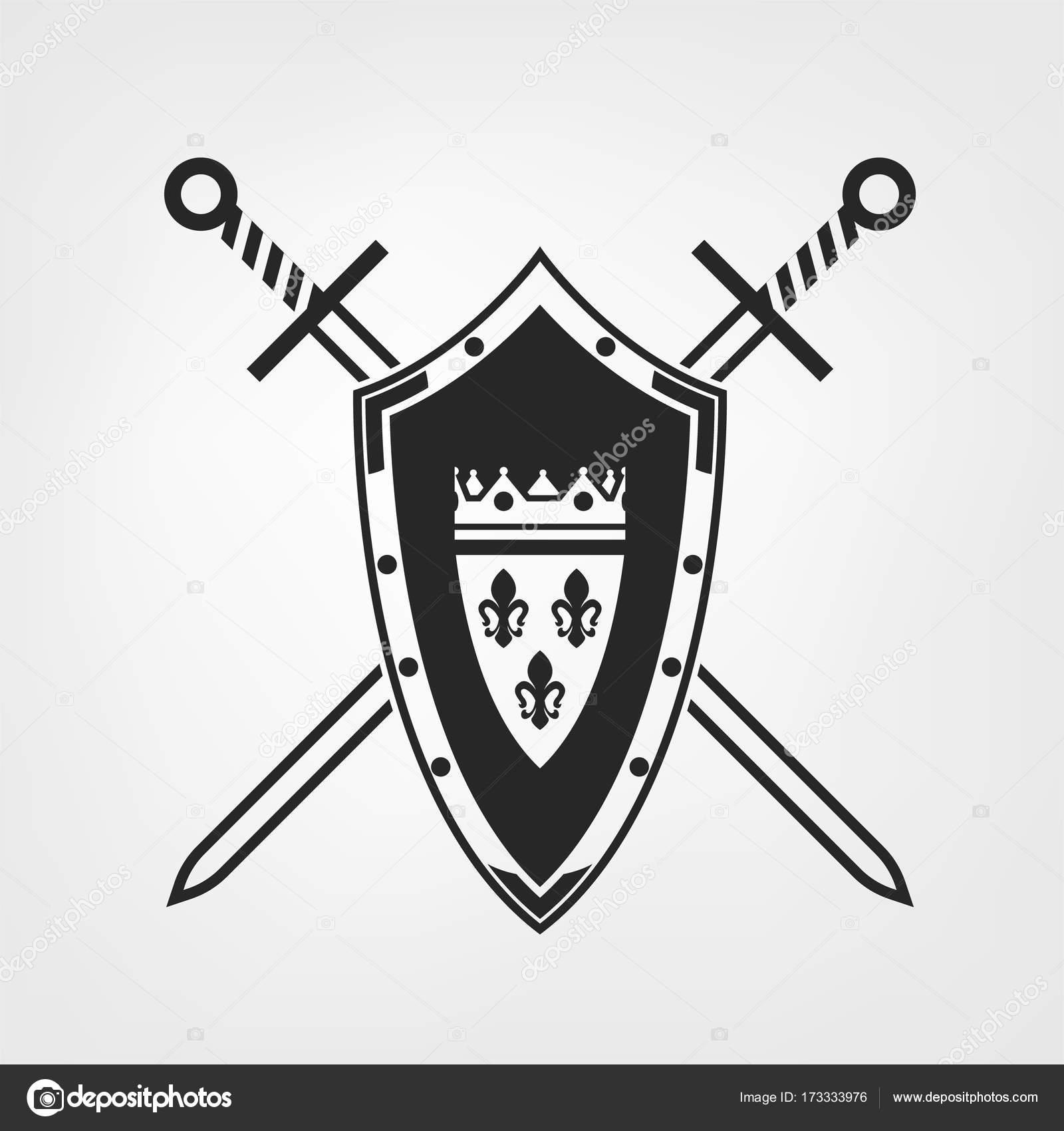Medieval Shield Image — Stock Vector © annyart #173333976