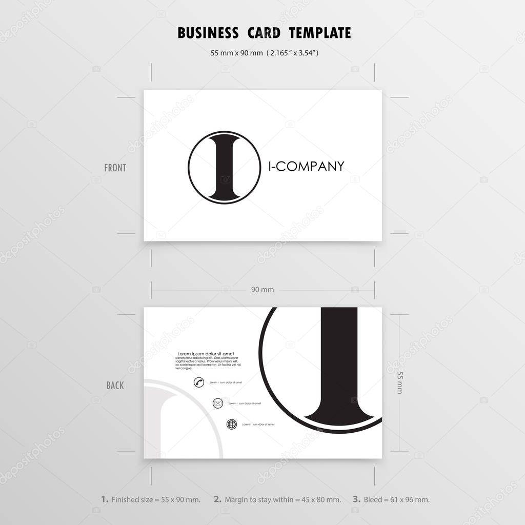 Visitenkarten-Design-Vorlage. Name-Karten-Symbol. Größe 55 mm x ...