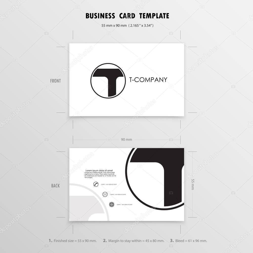 名刺デザインのテンプレートです 名前カードのシンボル サイズ 55 mm x
