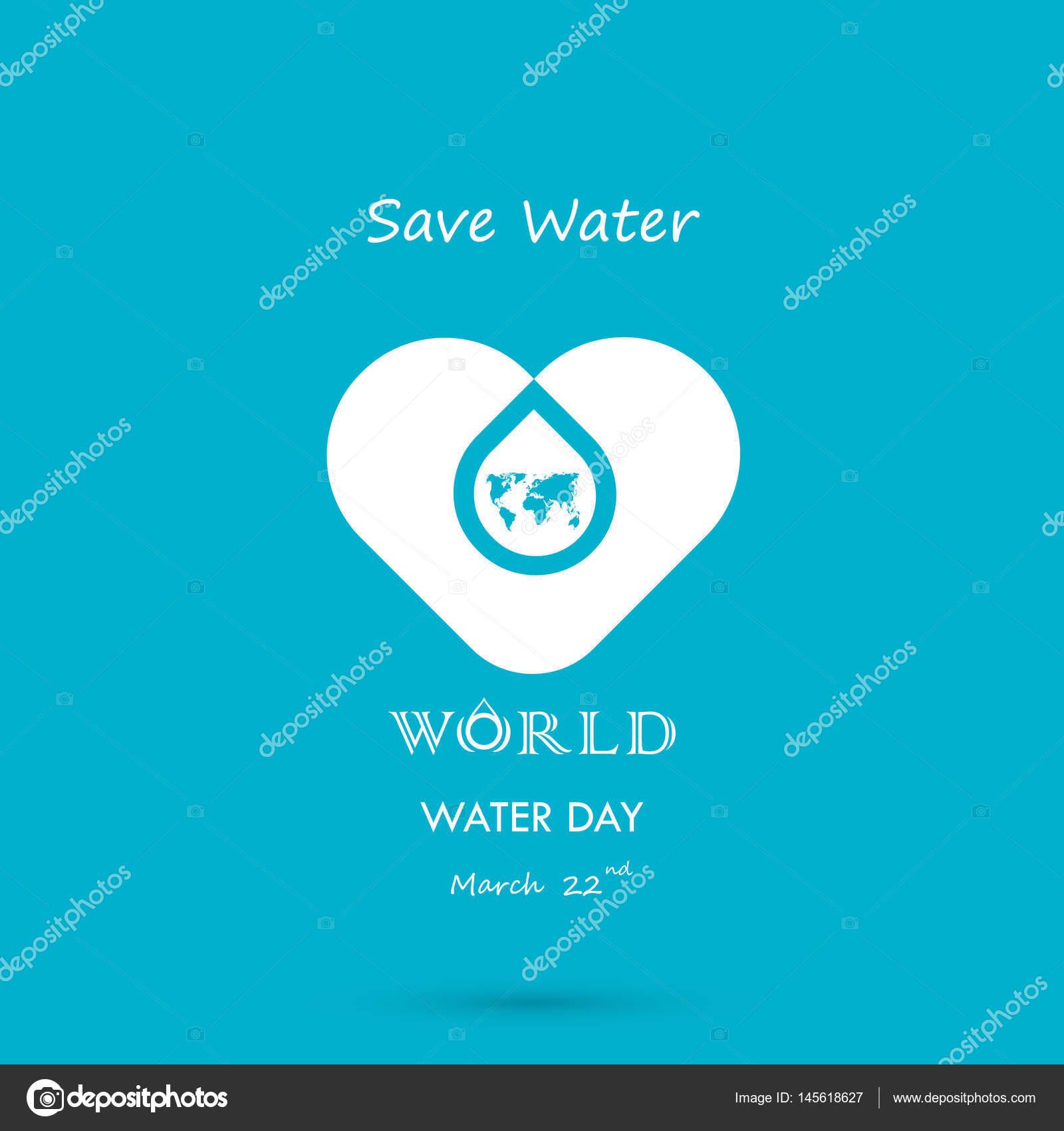 Gota de agua con plantilla de diseño de logo de mundo icono vector ...