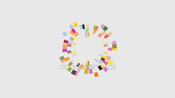 Šablona návrhu s kreativní kroužek abstraktní záběry. Podnikových technologií creative symbol