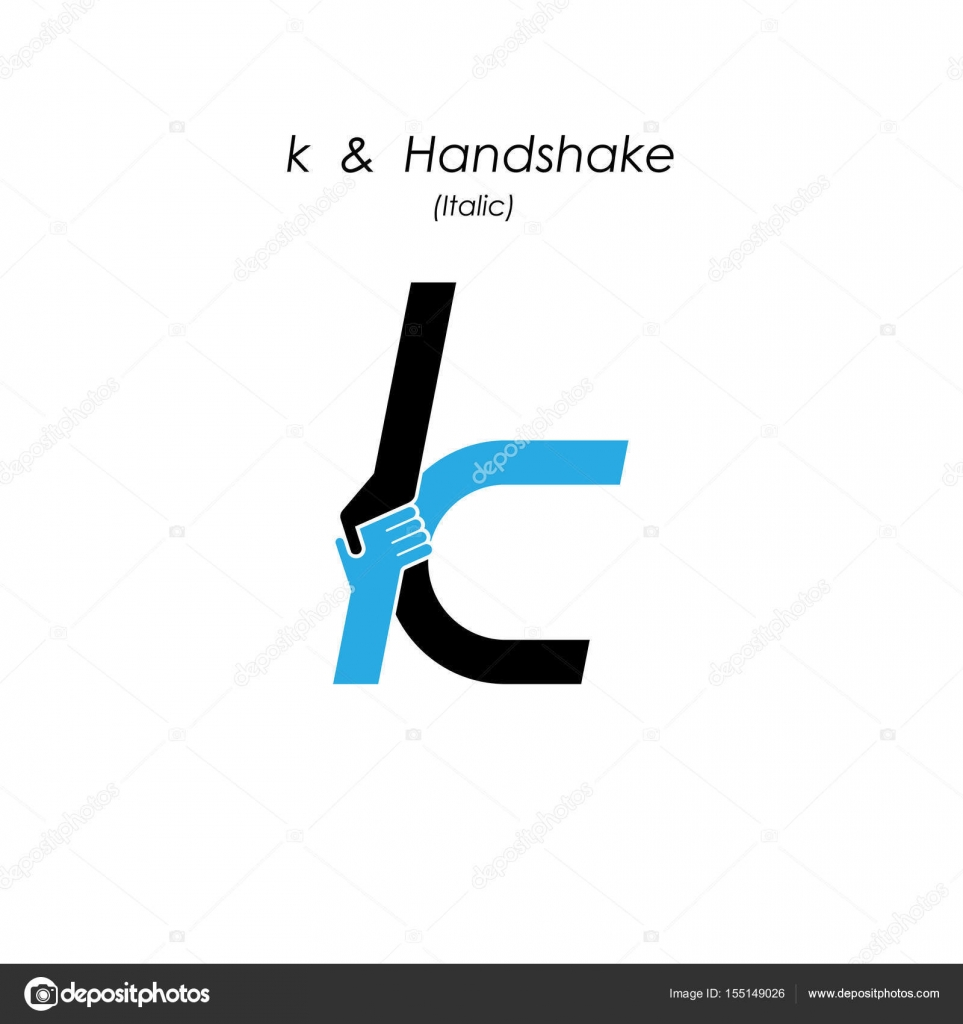Creative K Letter Icon Abstract Logo Design Vector Template