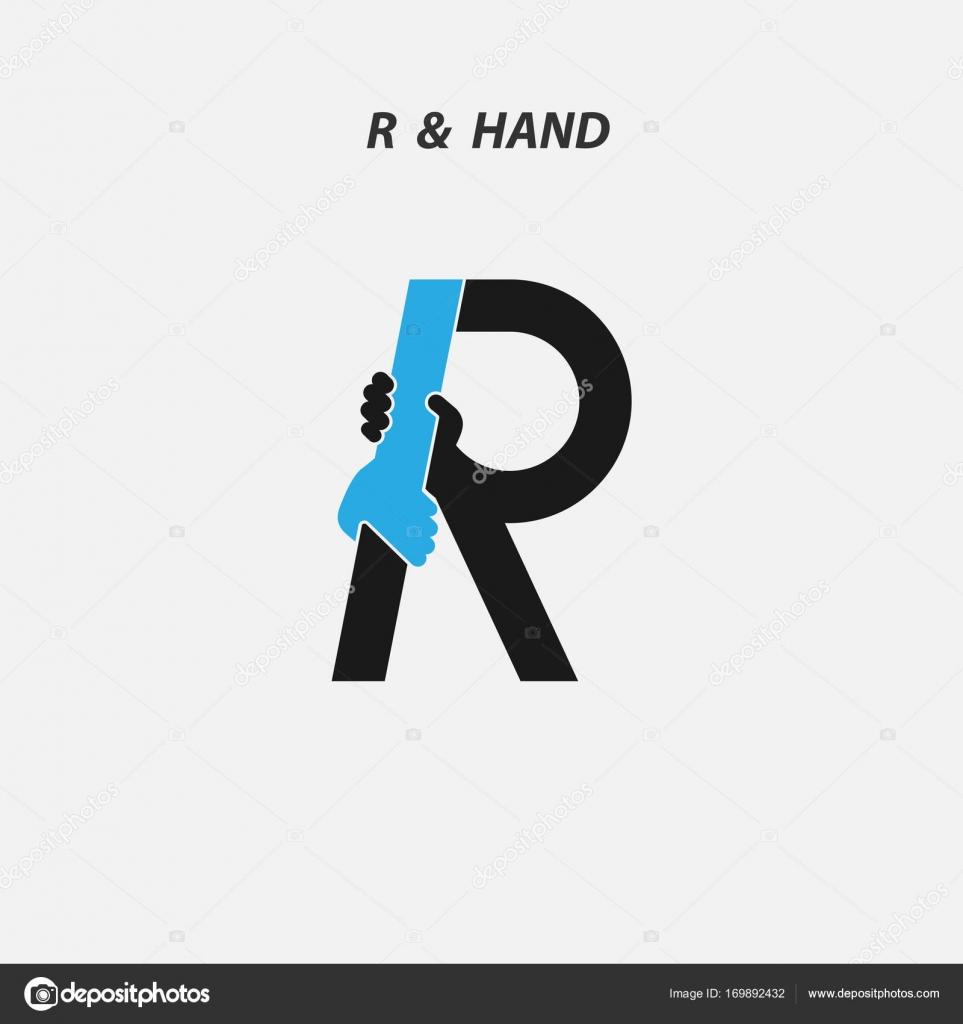 R - carta icono abstracto y la plantilla de vector de diseño de logo ...