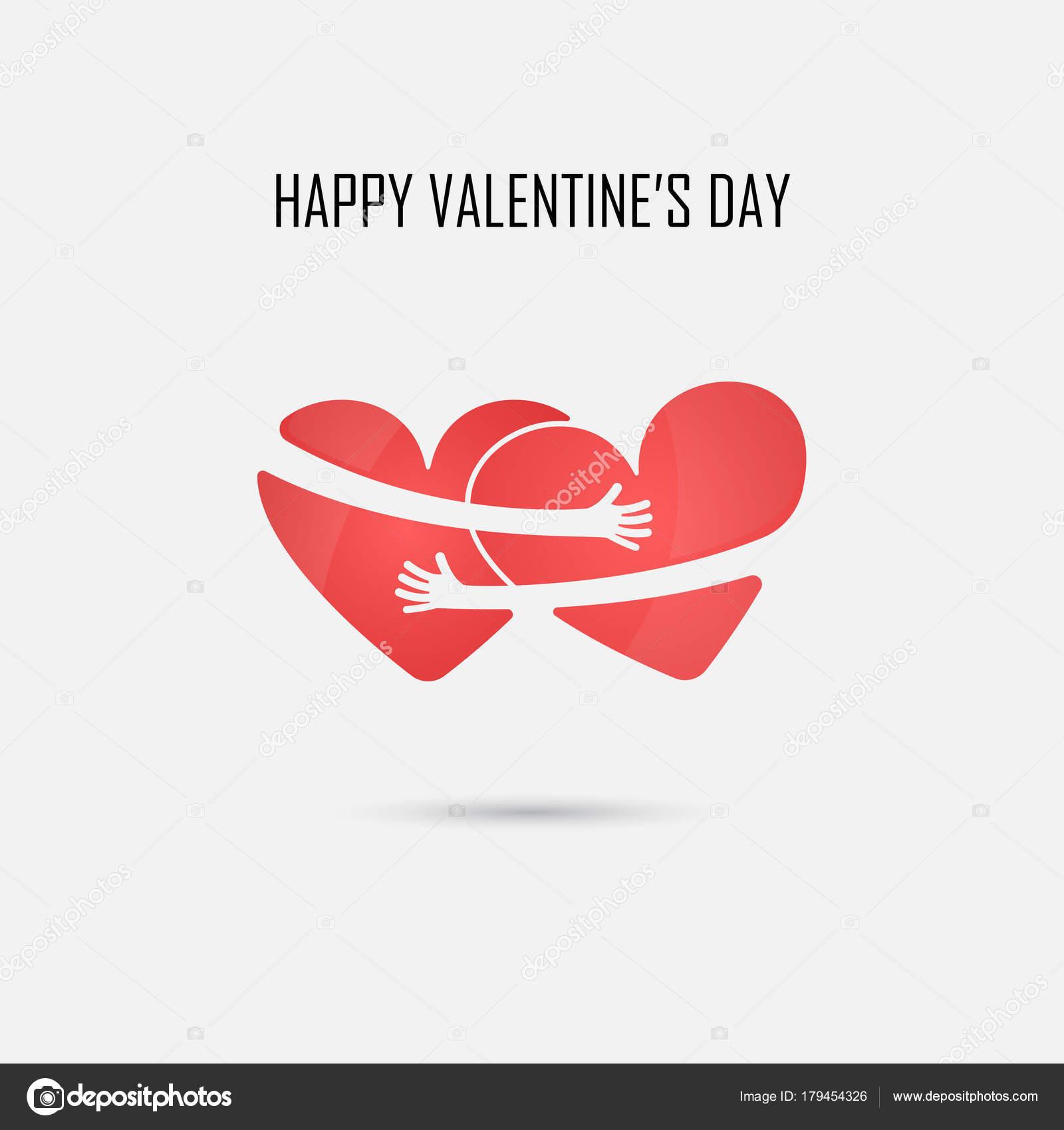 Herz Symbole Vektor-Logo Design-Vorlage. Liebe & Happy valentines ...