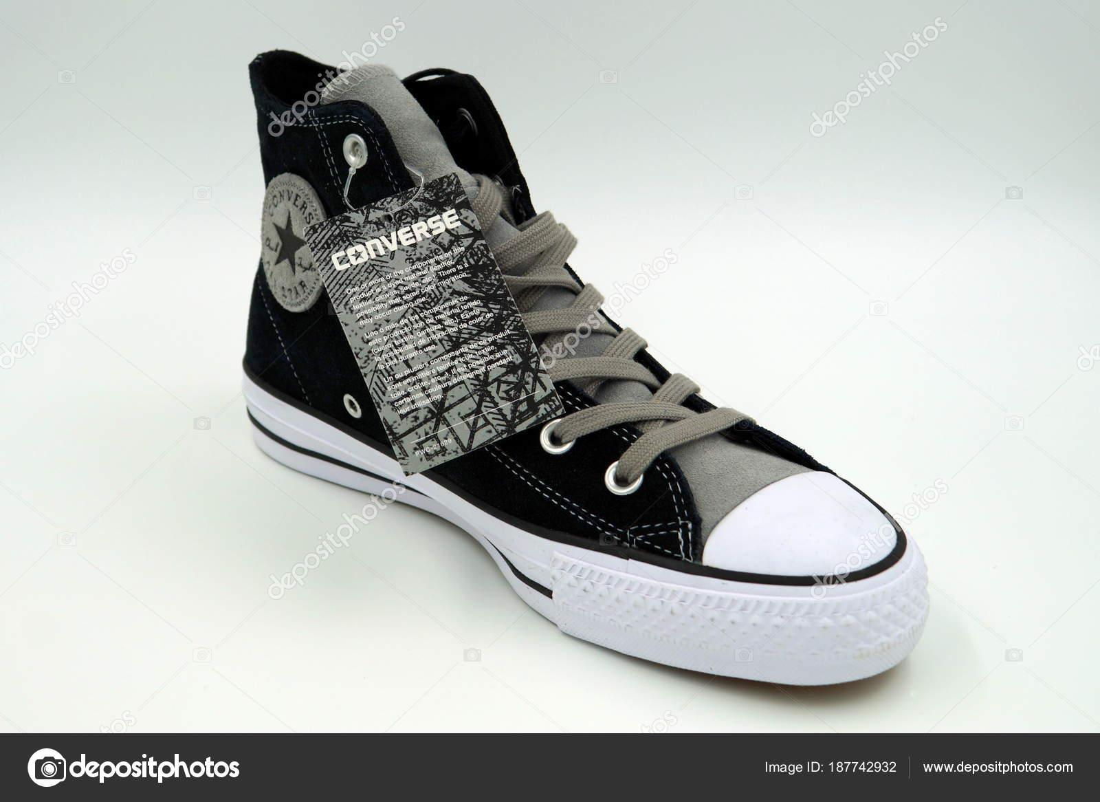 546be1e8a11 Amsterdam Netherlands December 2017 New Black Converse All Stars Sneaker —  Stock Photo