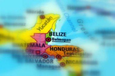 Belize, formerly British Honduras (selective focus background)