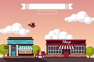 design of shops market