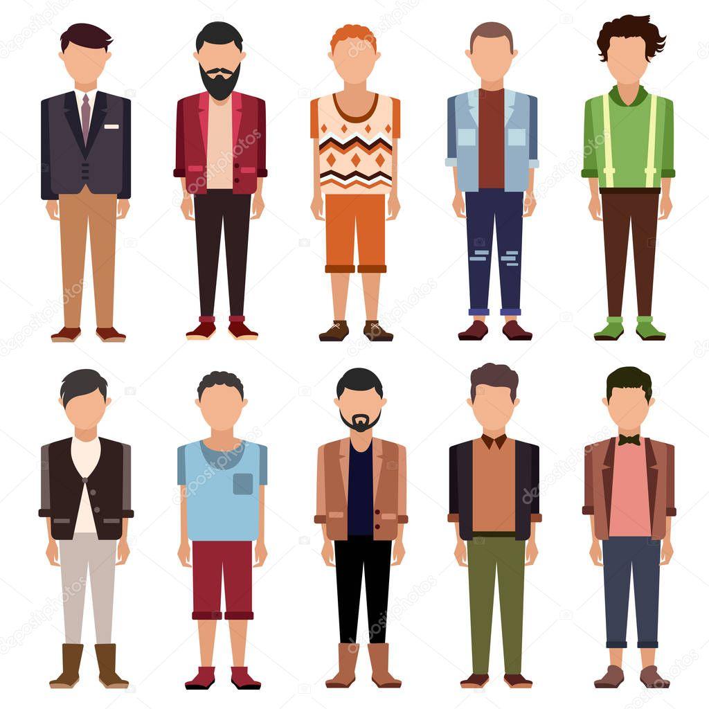 conjunto de planos de dibujos animados personas — Vector