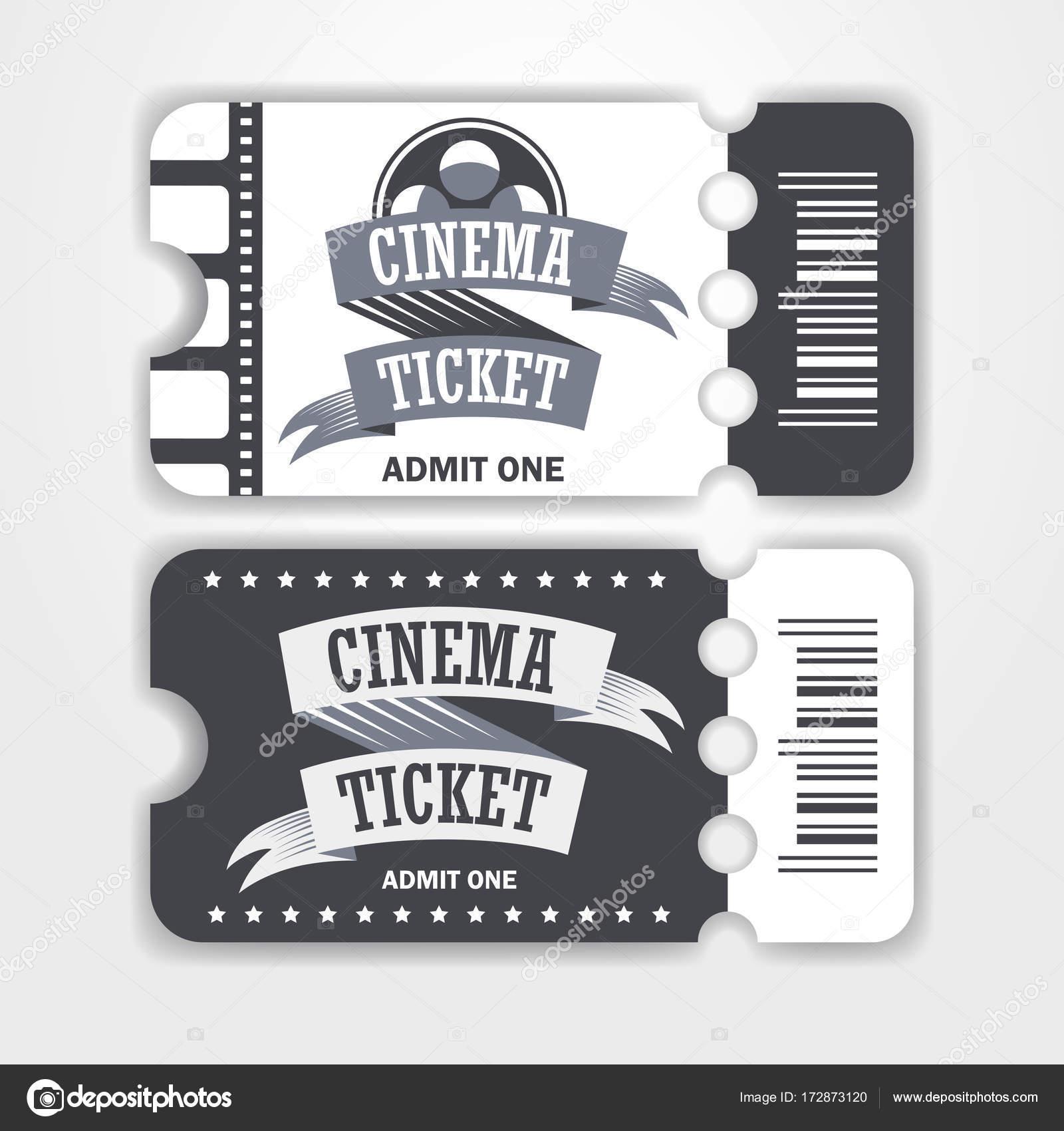 Kino Karten Vorlage — Stockvektor © Scorpion333 #172873120
