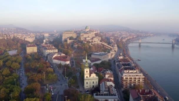 Európa, Budapest, Magyarország, Budai vár, Duna, Városkép videó