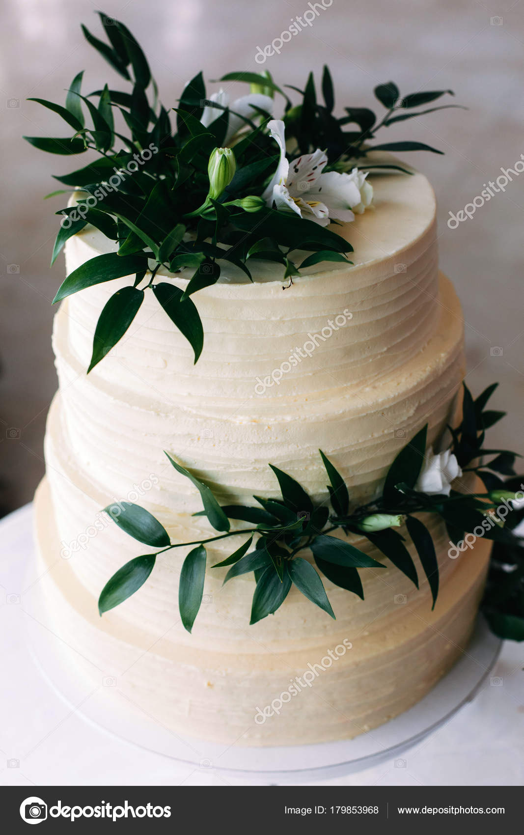 Beau Délicieux Gâteau Des Pâtisseries Maison Mariage