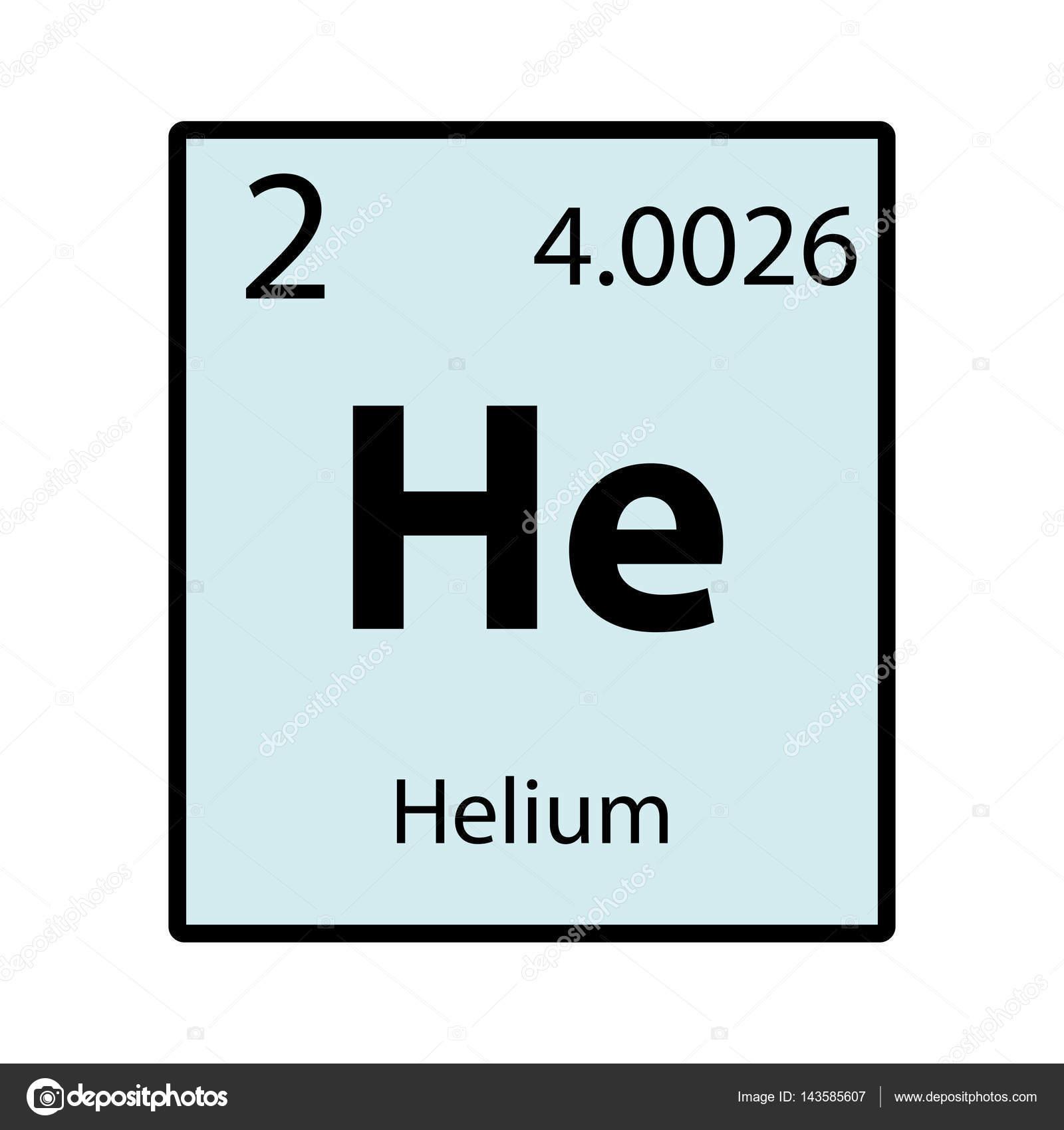 Helio tabla periodica elemento color en icono de vector de fondo helio tabla periodica elemento color en icono de vector de fondo blanco archivo imgenes vectoriales urtaz Images