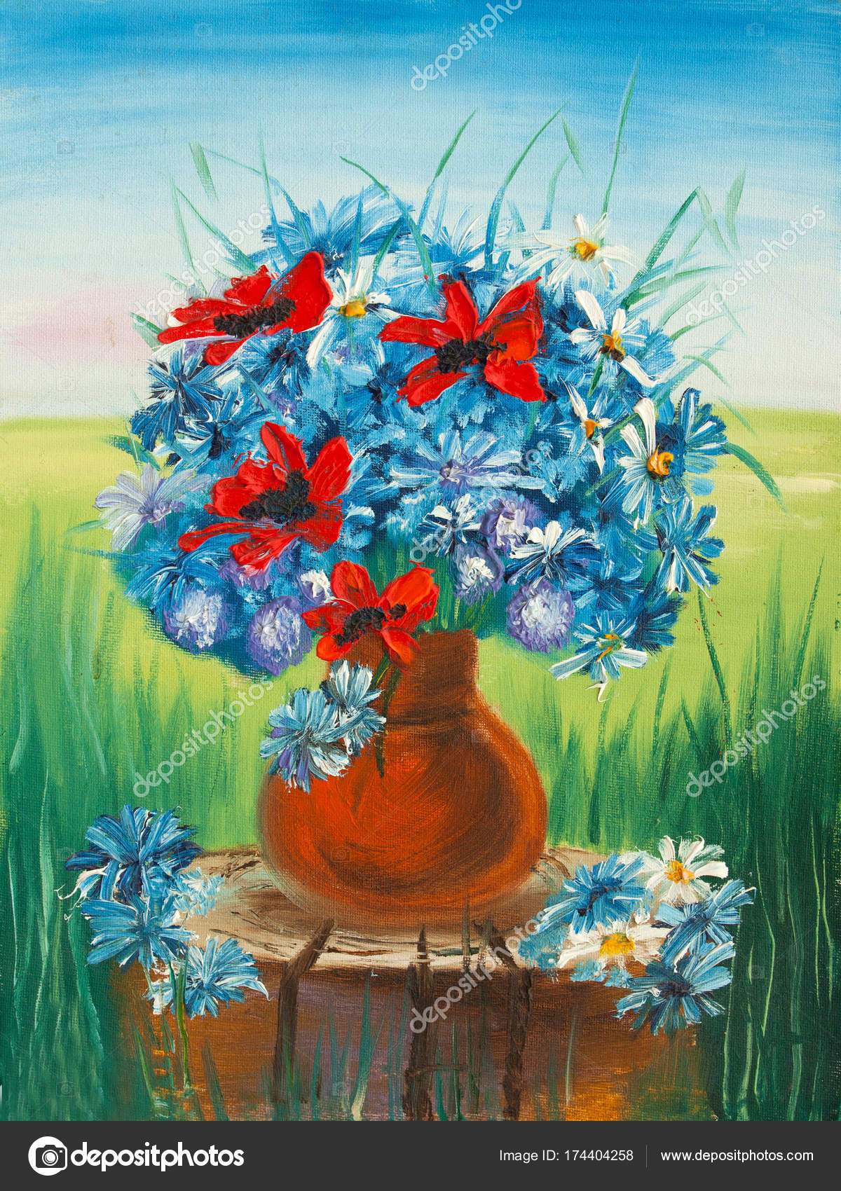 Beautiful flowers in vase oil painting on canvas stock photo beautiful flowers in vase oil painting on canvas stock photo izmirmasajfo