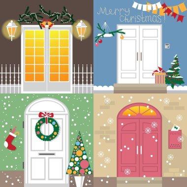 doors to Christmas holiday