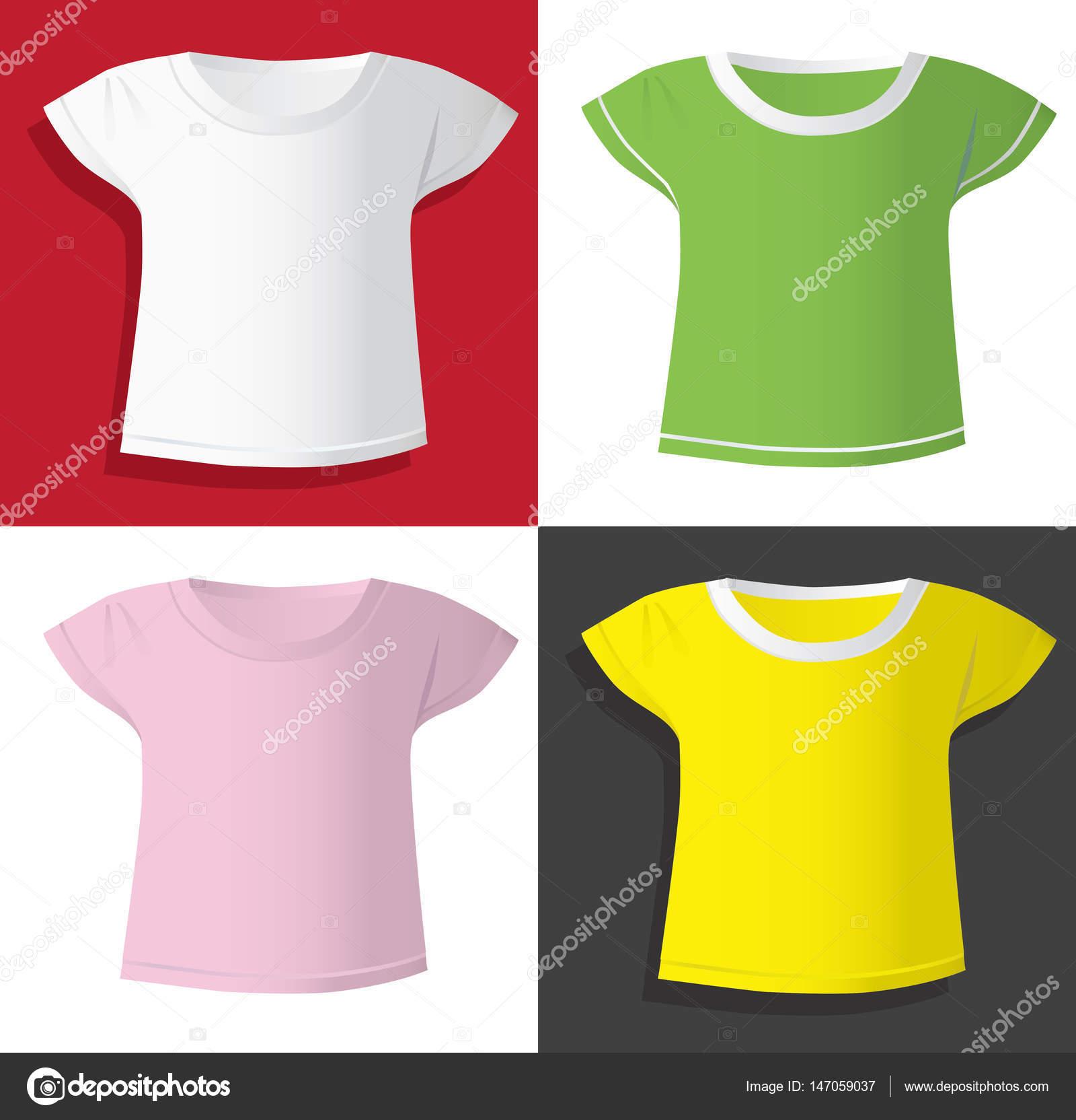 plantillas de camisetas de las mujeres — Archivo Imágenes ...