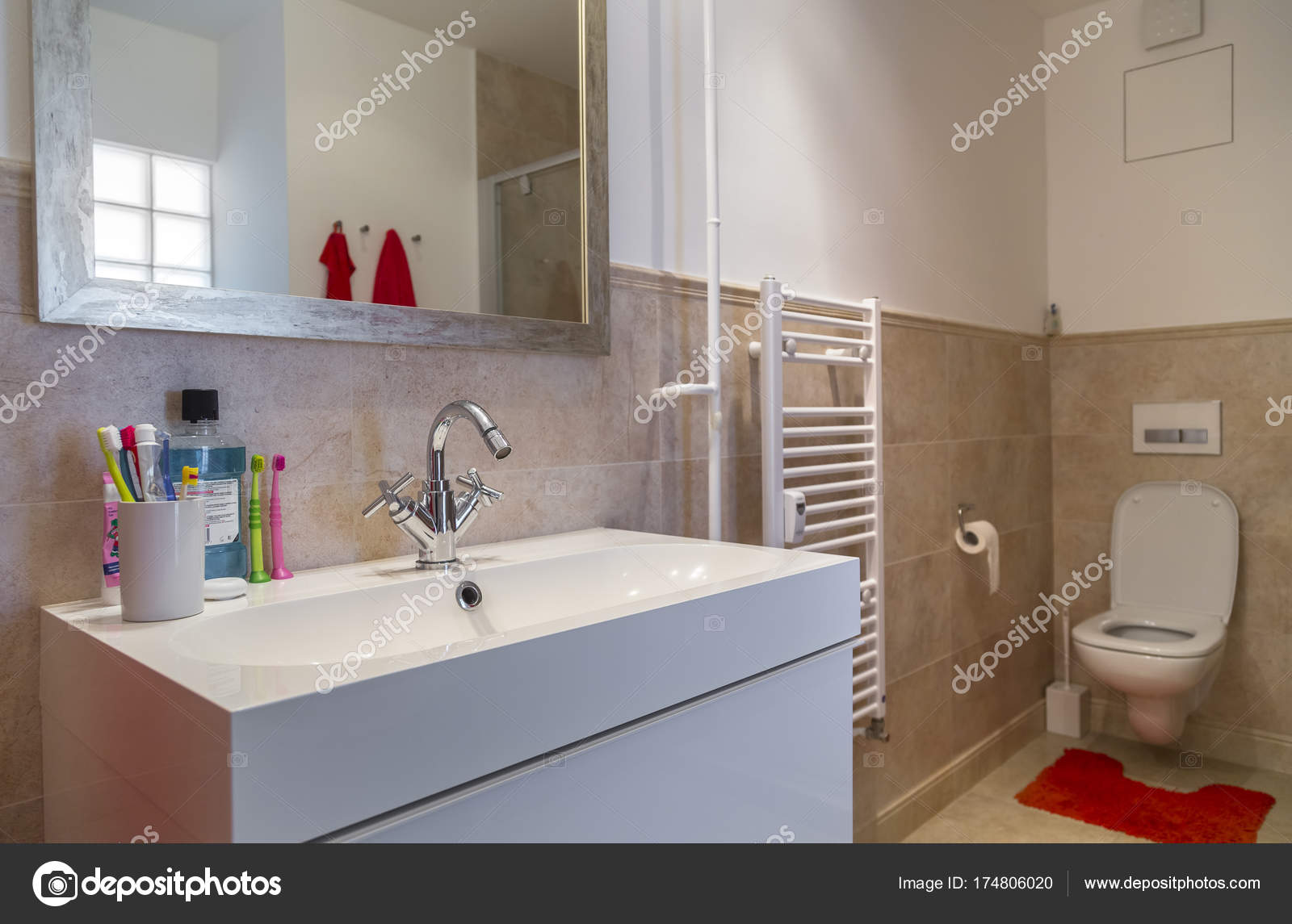 Nice Bathroom In A Two Room Apartment Stock Photo C Ondrooo 174806020 - Nice-apartment-bathrooms