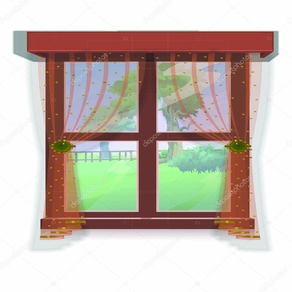 Window With Outside Tree View Cartoon Vector Image Premium Vector In Adobe Illustrator Ai Ai Format Encapsulated Postscript Eps Eps Format Vector clip art illustration with. cartoon vector image premium vector in