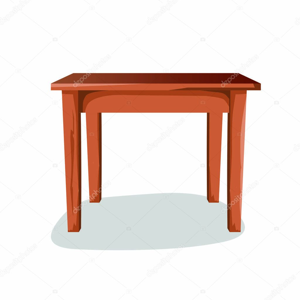 Picture of: Wooden Side Table Cartoon Vector Image Premium Vector In Adobe Illustrator Ai Ai Format Encapsulated Postscript Eps Eps Format
