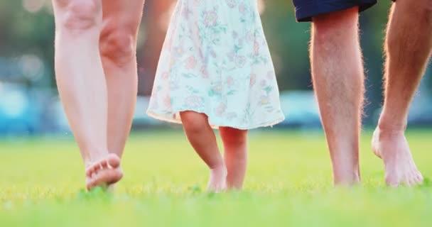 schöne junge Familienbeine