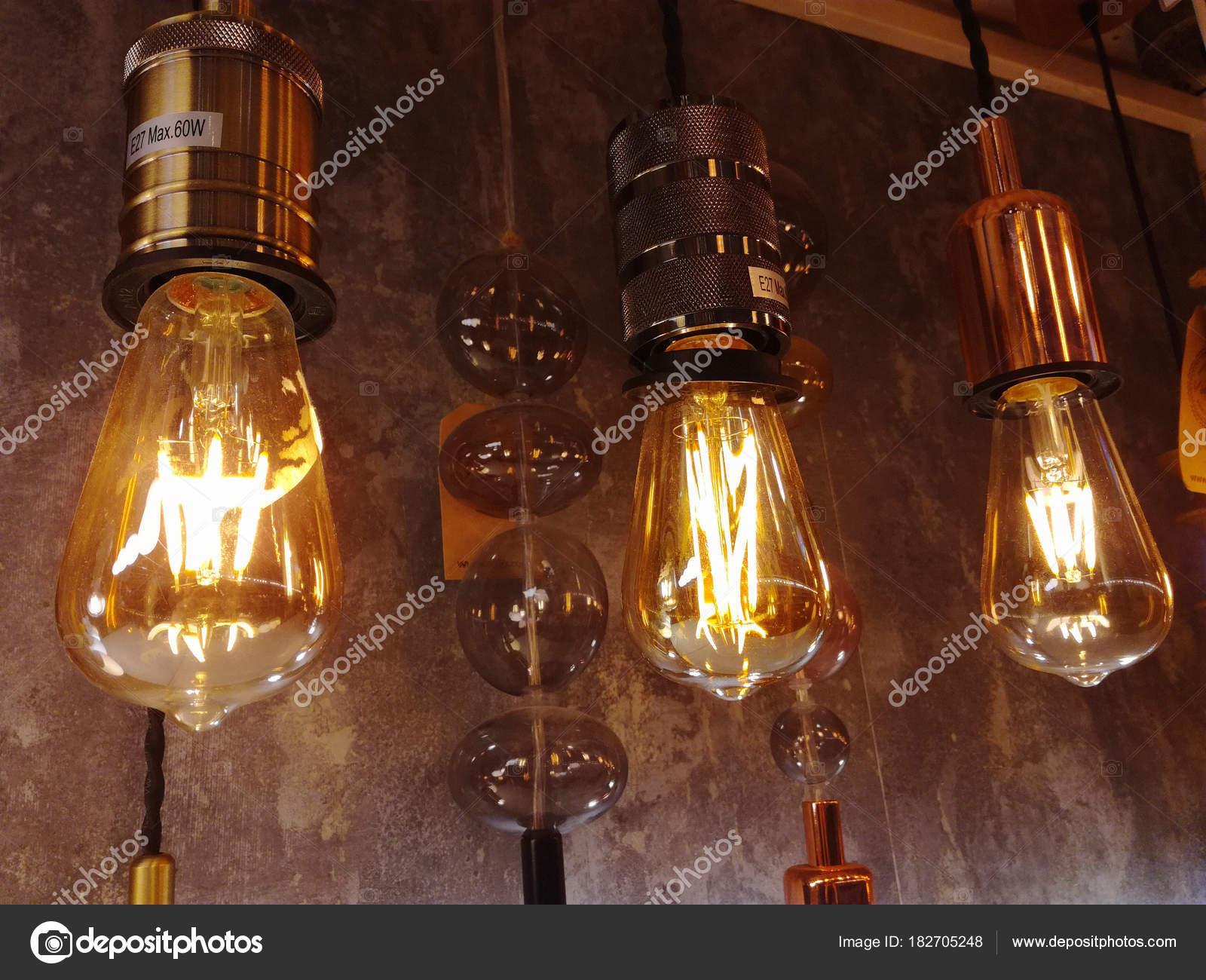 Luce loft design vintage illuminazione lampade incandescenza