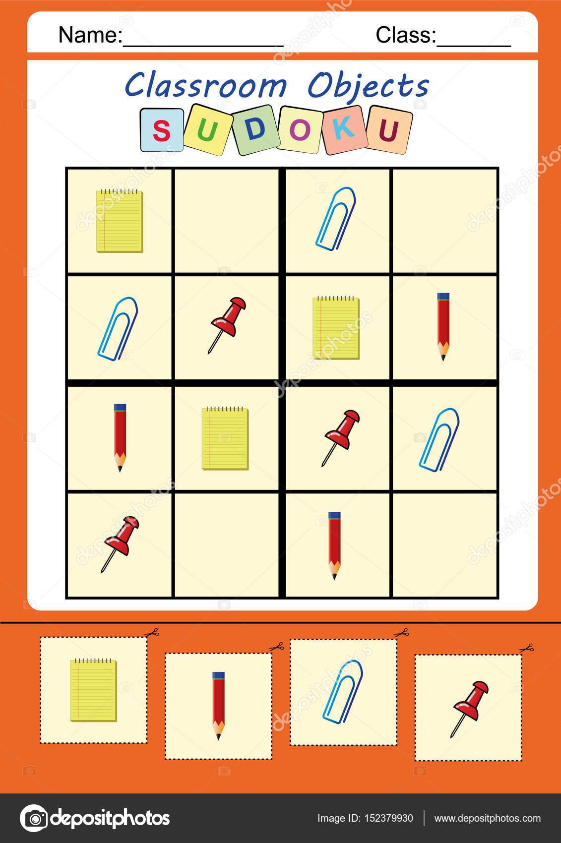 Lustiges Bild-Sudoku für Kinder — Stockfoto © kamilon #152379930
