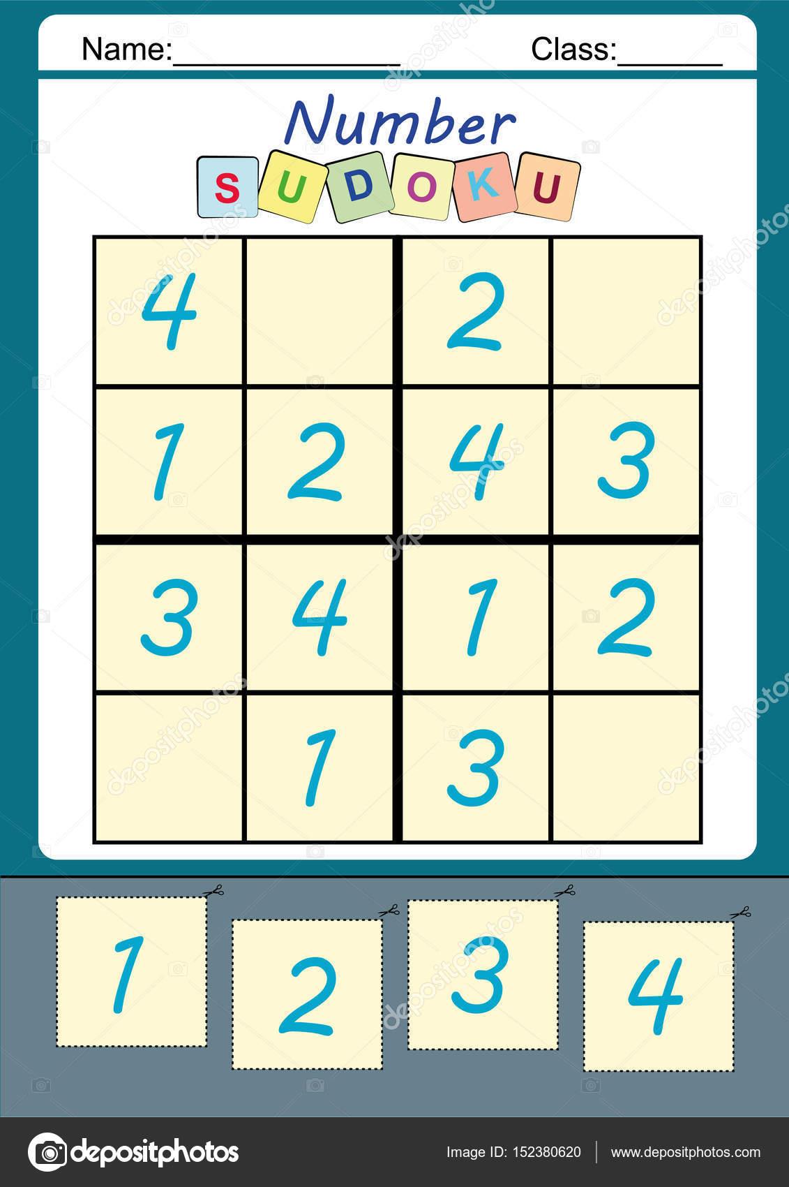 Lustiges Bild-Sudoku für Kinder — Stockfoto © kamilon #152380620