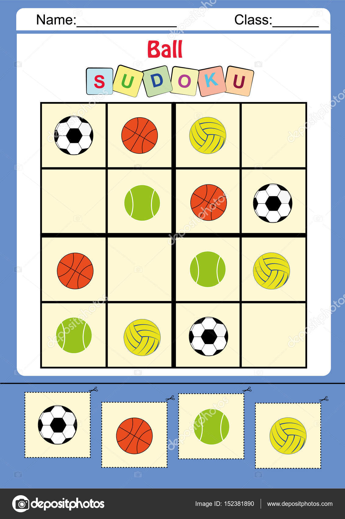 Funny picture sudoku for kids Photo kamilon 152381890 – Sudoku Worksheet