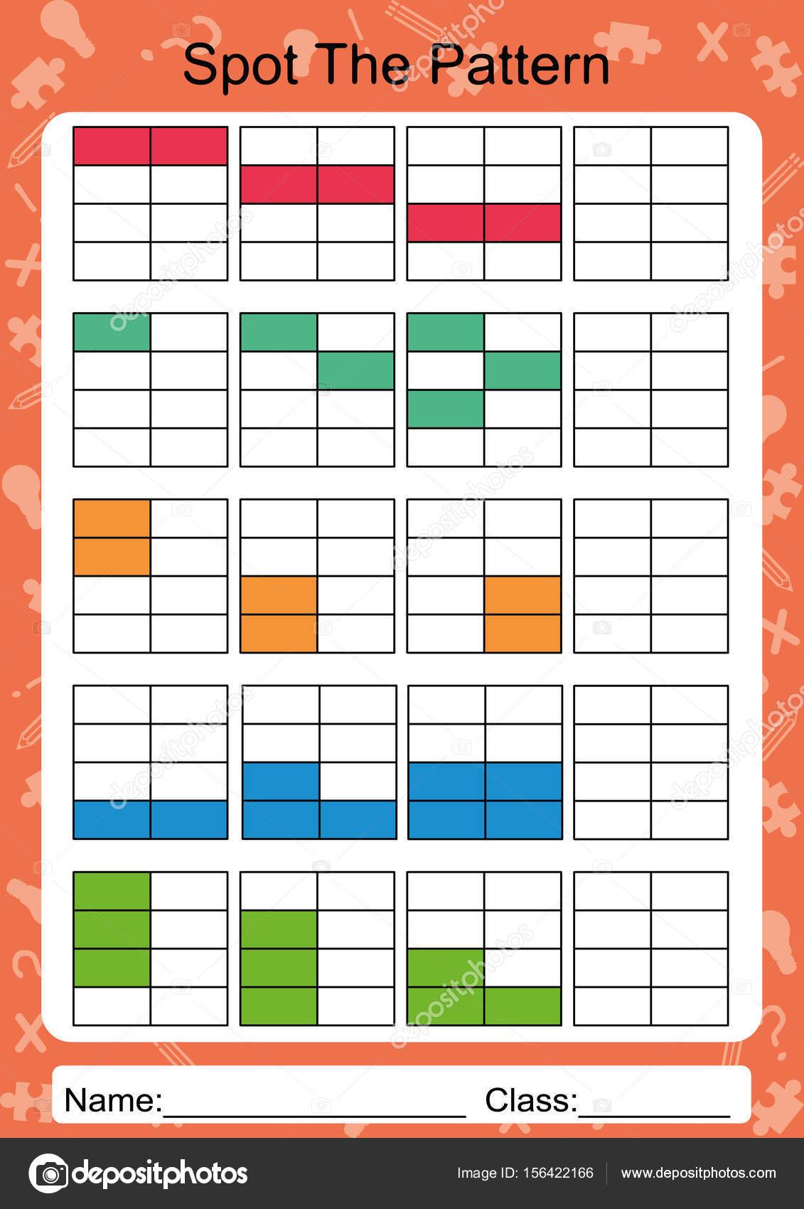 Füllen Sie das nächste Muster, Arbeitsblatt für Kinder — Stockvektor ...