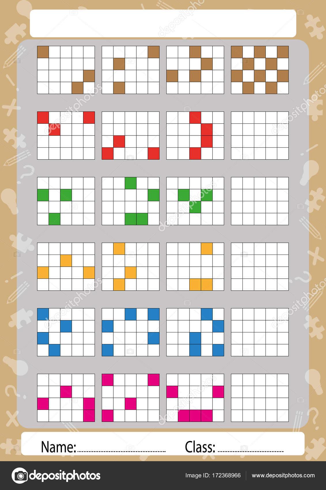 sammeln Muster in der ersten, zweiten und Dritter Teil, Arbeitsblatt ...