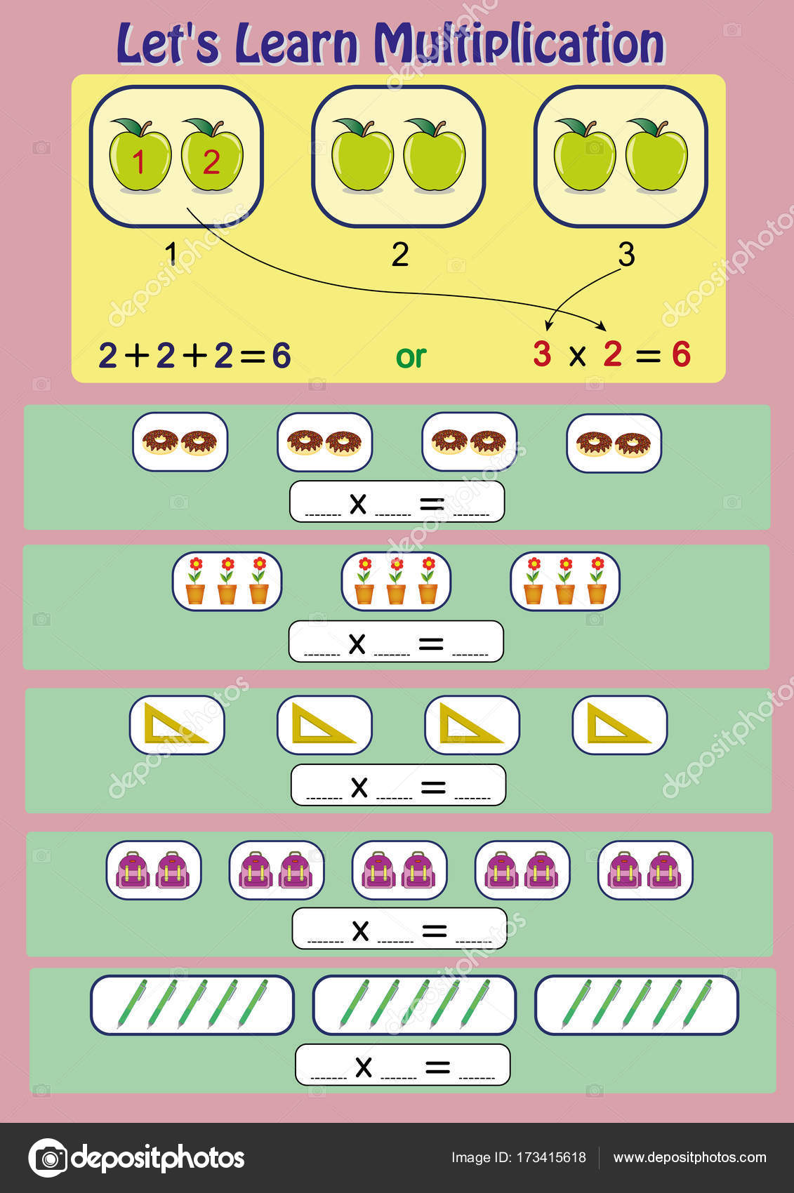 lets learn multiplication, mathematical activity, multiplication ...