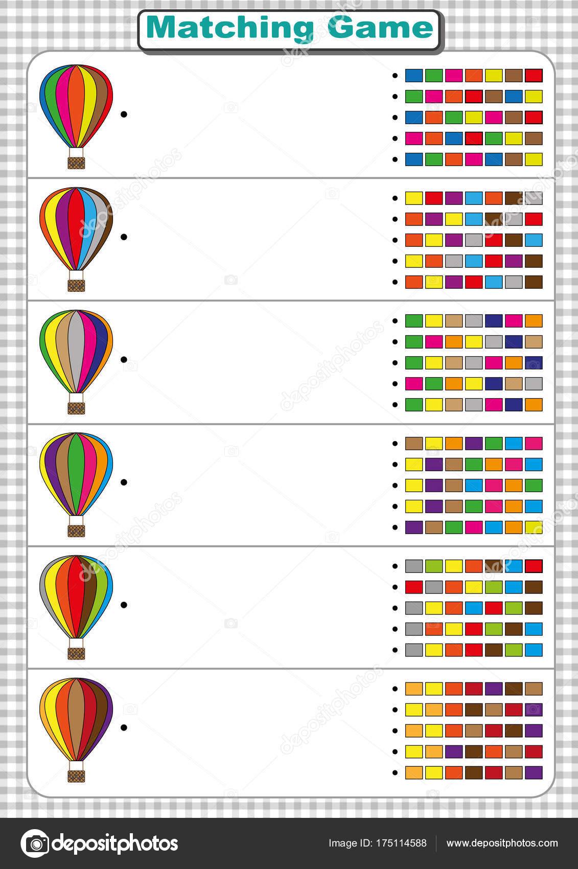 Encontrar la secuencia de colores del globo de aire. hoja de trabajo ...