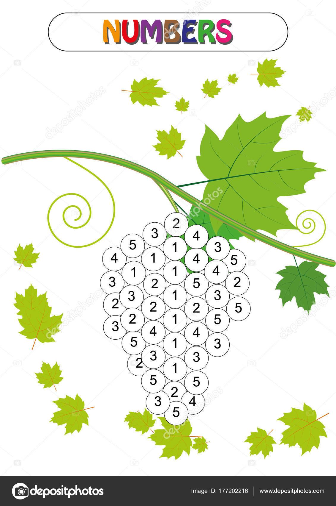 Zahlen lernen, Farbe, Anzahl, Mathe-Spiel, Math Aktivität ...