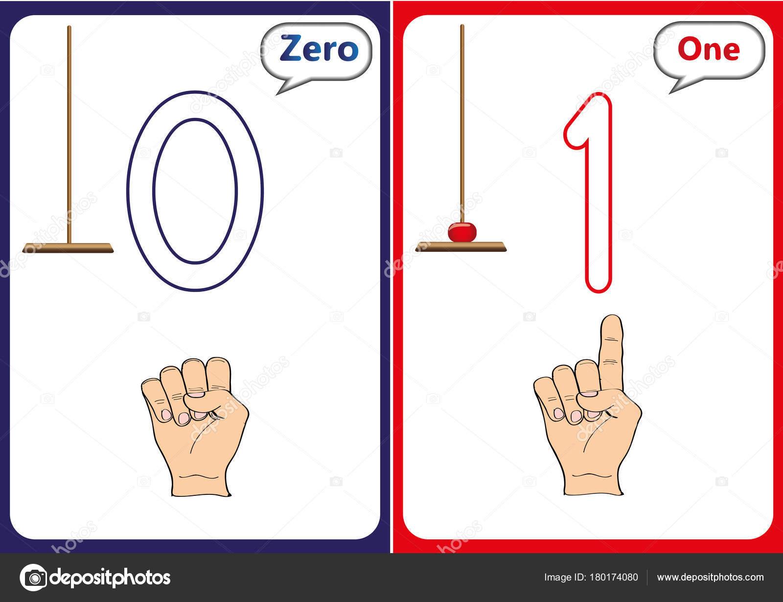 lernen die Zahlen 0-10, Flash-Karten, vorschulische Bildungsarbeit ...