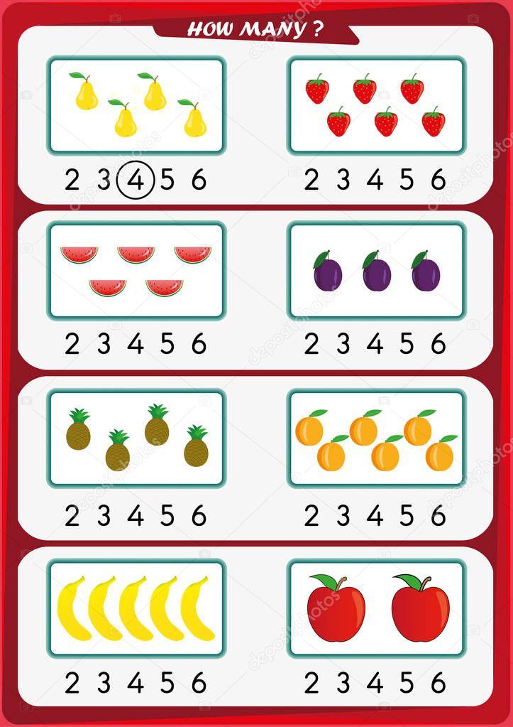Learning Numbers Kindergarten Worksheets