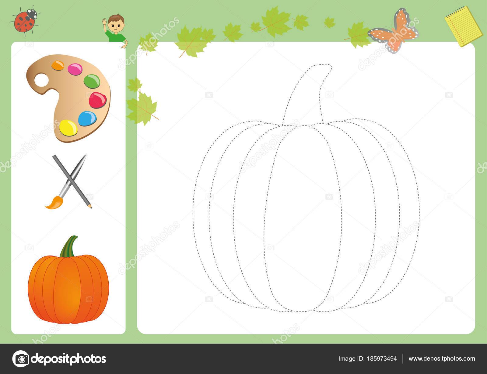 Folgen Sie den Linien mit Bleistift und Farbe, Bleistift Kontrolle ...