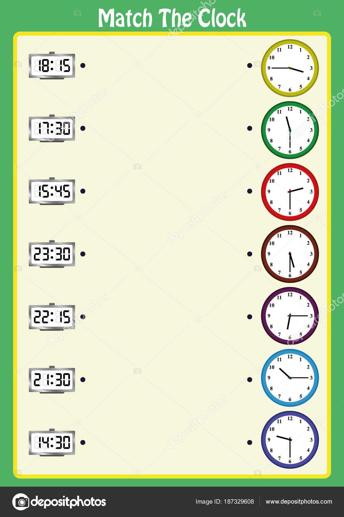 entsprechen die Uhren, die Kinder lernen, analoge Uhren mit diesem ...